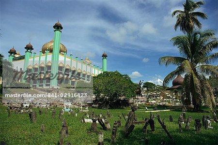 Mosquée de Kuching, Kuching, Sarawak, Malaisie, Asie du sud-est, Asie