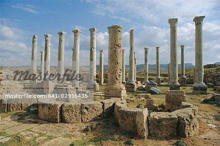 L'ancienne ville grecque d'Appolonia, en Libye, en Afrique du Nord