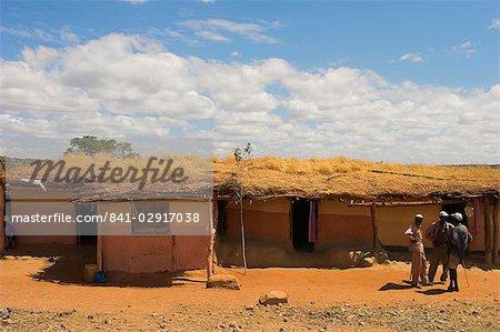 Maisons, région du Sud, Ethiopie, Afrique