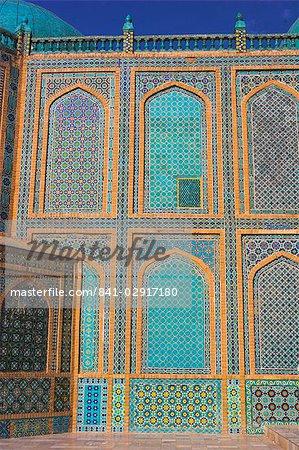 Sanctuaire de Hazrat Ali, qui fut assassiné en 661, Mazar-I-Sharif, Afghanistan, Asie