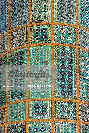 Minaret de sanctuaire de Hazrat Ali, qui fut assassiné en 661, Mazar-I-Sharif, Afghanistan, Asie