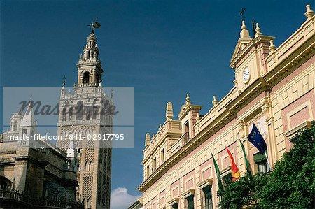 La Giralda tower, Séville, Andalousie, Espagne, Europe