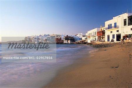 Petite Venise, la ville de Mykonos, île de Mykonos, Cyclades, Grèce, Europe