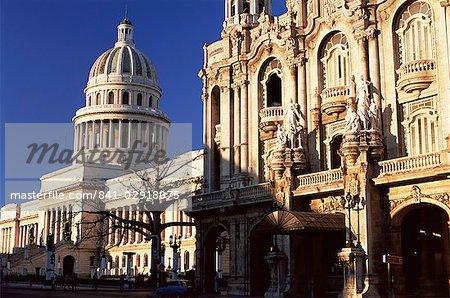 Le Capitole (Capitole) baigné dans la lumière matinale, la Havane, Cuba, Antilles, Amérique centrale