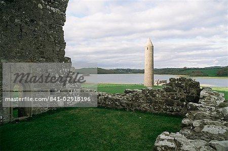 Début Christian bâtiments, né Island, comté de Fermanagh, Irlande du Nord, Royaume-Uni, Europe