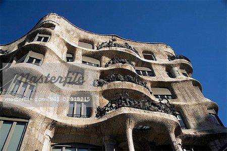 Casa Milà Gaudi (La Pedrera), Site du patrimoine mondial de l'UNESCO, Barcelone, Catalogne, Espagne, Europe