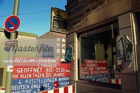 Musée de Checkpoint Charlie, Berlin, Allemagne, Europe