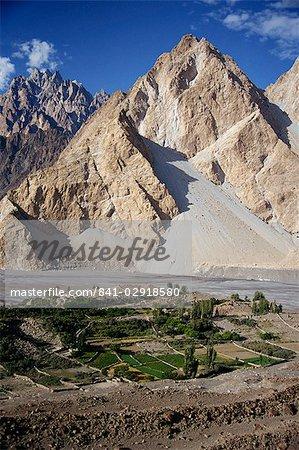 La région de Gojal à partir de l'autoroute Karakoram, Pakistan, Asie