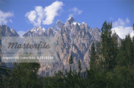 Pic de Karum Pir, Passu, zone du Nord, Pakistan, Asie