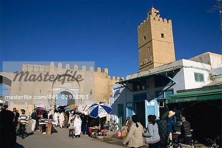 Murs de la médina, Médina, Kairouan, Tunisie, Afrique du Nord, Afrique