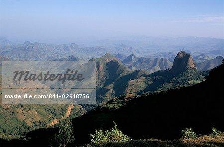 Foothills of the mountain range, Simien mountains, Ethiopia, Africa