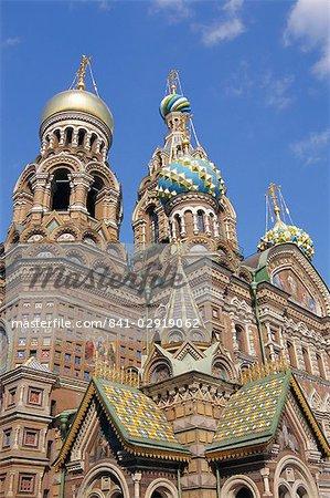 Église de la Résurrection (ou le sang répandu), Saint-Pétersbourg, Russie