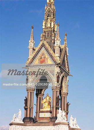 Albert Memorial, nach Renovierung, Kensington Gardens, London, England, Vereinigtes Königreich, Europa