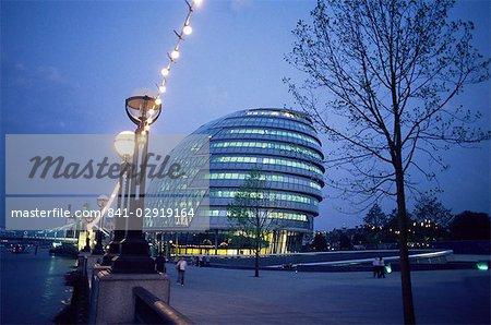 Hôtel de ville au crépuscule, Londres, Royaume-Uni, Europe