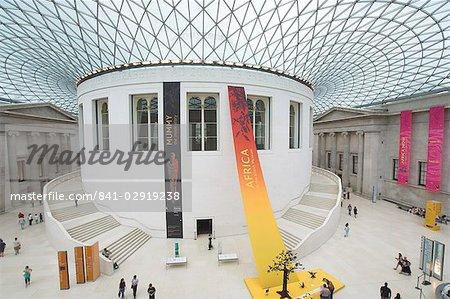 Grande cour, British Museum, Londres, Royaume-Uni, Europe