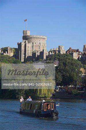 Tamise et le château de Windsor, Berkshire, Angleterre, Royaume-Uni, Europe