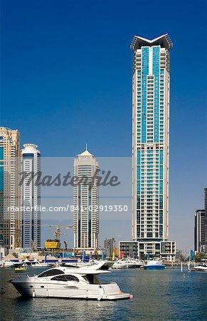 Dubai Marina, Dubai, Émirats Arabes Unis (E.A.U.), Moyen Orient