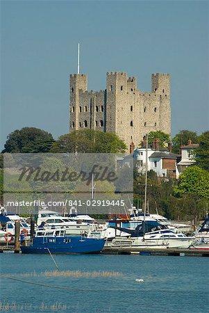 Burg von Rochester, Rochester, Kent, England, Vereinigtes Königreich, Europa