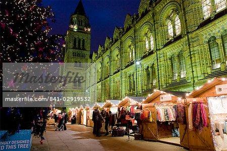 Christmas Market outside the Natural History Museum, London, England, United Kingdom, Europe