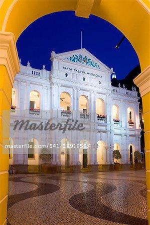 Santa Casa da Misericordia, Senate Square (Largo de Senado), Macau, China, Asia
