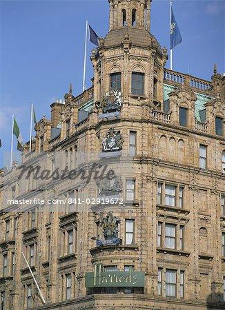 Harrods, Knightsbridge, Londres, Royaume-Uni, Europe