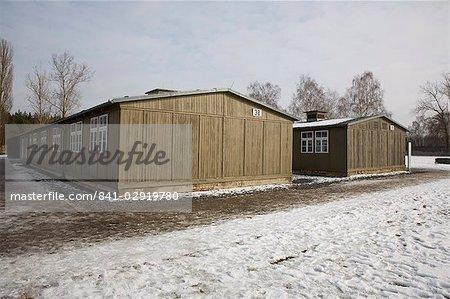 Inmates' hut, Gedenkstatte Sachsenhausen (concentration camp memorial), East Berlin, Germany, Europe
