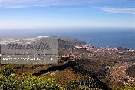 Playa de las Americas resort, vue vers le sud ouest du Sud El Roque, Arona, Ouest Tenerife, îles Canaries, Espagne, Atlantique, Europe