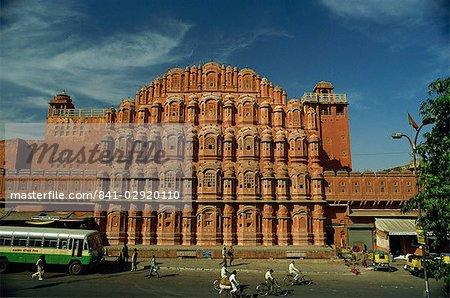 La façade du Palais des vents (Hawa Mahal), Jaipur, Rajasthan, Inde, Asie