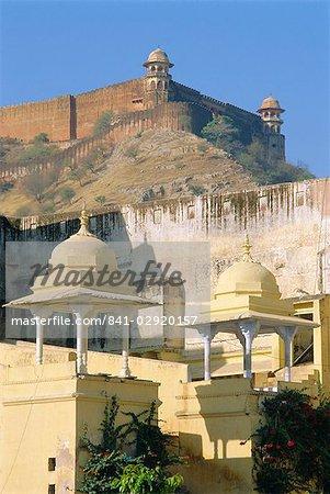 Amber Fort, architecture Rajput, construit en 1592, Jaipur, Rajasthan, Inde