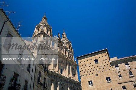 La Clerecia et Casa de las Conchas (maison des coquillages), quartier de la vieille ville, patrimoine mondial de l'UNESCO, Salamanque, Castilla y Leon, Espagne, Europe