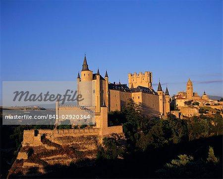 The Alcazar and Cathedral, Segovia, Castilla y Leon, Spain