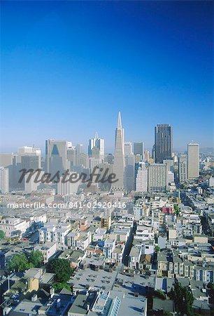 Vue sur San Francisco, Californie, États-Unis d'Amérique, Amérique du Nord