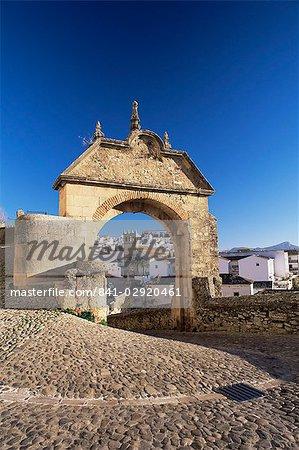 L'arc de Philippe V, Ronda, Malaga zone, Andalousie, Espagne, Europe