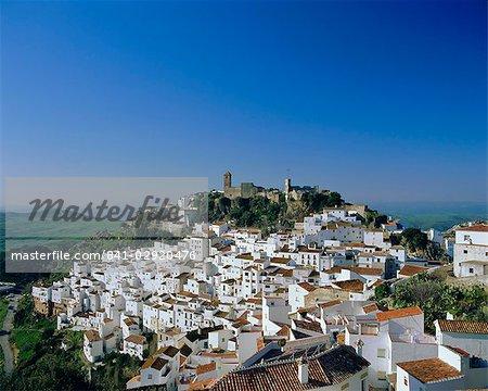 Vue du village de colline, Casares, Malaga, Andalousie (Andalousie), Espagne, Europe