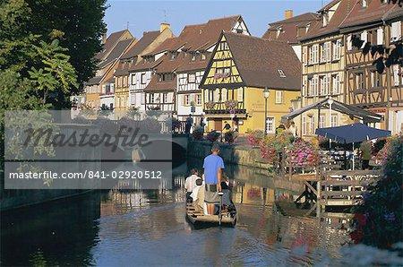 Visite de la Petite Venise, Colmar, Haut-Rhin, Alsace, France, Europe