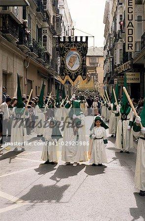 Pollinica Brotherhood, Palm Sunday, Easter Week, Malaga, Andalucia, Spain, Europe