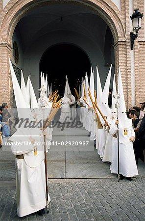 La Salud Brotherhood, Palm Sunday, Easter Week, Malaga, Andalucia (Andalusia), Spain, Europe