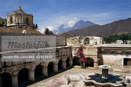 La Merced church and monastery, 1749 to 1767 AD, Antigua, UNESCO World Heritage Site, Guatemala, central America