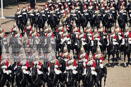 Horse Guards à la parade de la couleur, Londres, Royaume-Uni, Europe