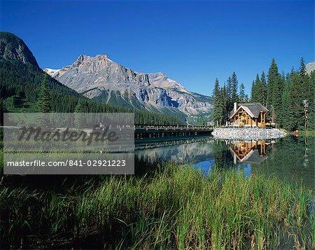Lac Emerald, Parc National de Yoho, l'UNESCO World Heritage Site, Colombie-Britannique, Canada, Amérique du Nord