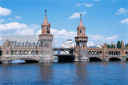 Oberbaum Bridge and river Spree, Berlin, Germany, Europe