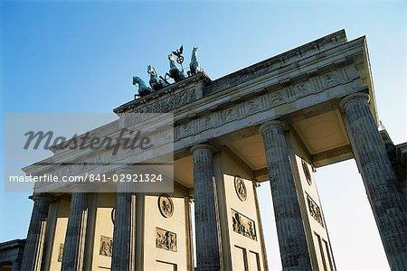 Porte de Brandebourg, Berlin, Allemagne, Europe