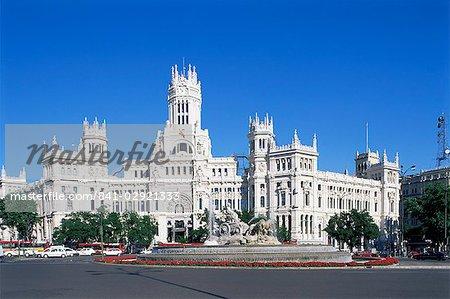 Palacio de Comunicaciones, Plaza de la Cibeles, Madrid, Spain, Europe