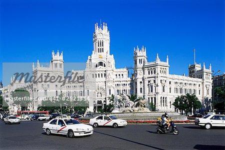 Palacio de Comunicaciones, Plaza de la Cibeles, Madrid, Espagne, Europe