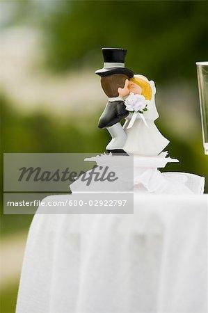 Gâteau de mariage Topper sur Table