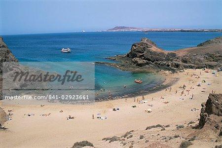 Playa de Papagayo, Lanzarote, Canary îles, Espagne, Atlantique, Europe