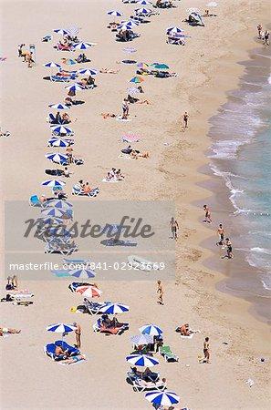 Beach, Cala de Sant Vicent, Ibiza, Balearic Islands, Spain, Mediterranean, Europe