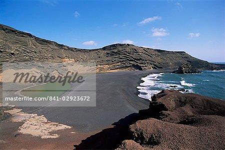 El Golfo auf Lanzarote, Kanarische Inseln, Spanien, Atlantik, Europa