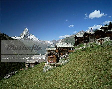 Le Cervin, 4478m, Findeln, Valais, Grisons, Suisse, Europe