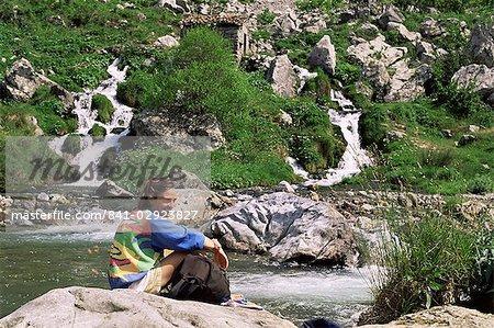 Repos de la Rio Cares, Massif Central, Picos de Europa, Cantabrie, Espagne, Europe